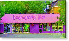 Boomerang Kids Baby Store Kiddies Clothing Consignment Shop The Glebe Paintings Of Ottawa C Spandau Acrylic Print by Carole Spandau