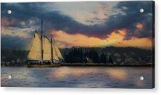 Boothbay Harbor Schooner Acrylic Print by Lori Deiter