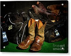 Boots And Bags Acrylic Print by Bob Hislop