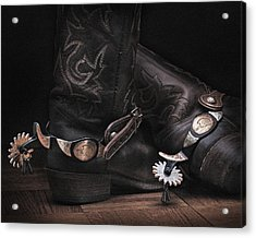 Boots And Spurs Acrylic Print by Krasimir Tolev