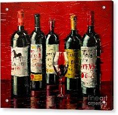 Bordeaux Collection Acrylic Print by Mona Edulesco