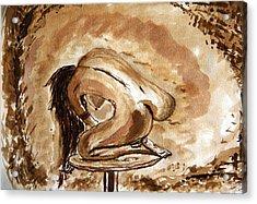 Born. Acrylic Print by Shlomo Zangilevitch
