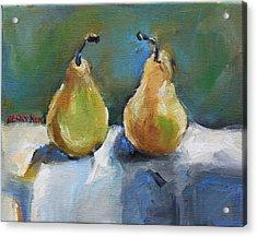 Bosc Pears Acrylic Print by Becky Kim