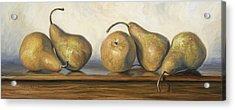 Bosc Pears Acrylic Print by Lucie Bilodeau