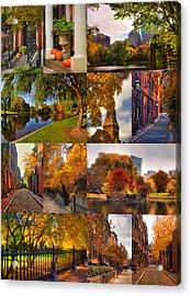 Boston Autumn Days Acrylic Print by Joann Vitali