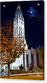 Boston Avenue Methodist Church In Tulsa Oklahoma In The Art Deco Acrylic Print by ELITE IMAGE photography By Chad McDermott