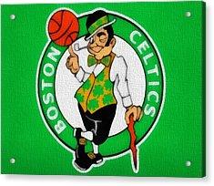 Boston Celtics Canvas Acrylic Print by Dan Sproul