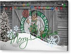 Boston Celtics Acrylic Print by Joe Hamilton