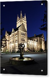 New England Acrylic Print featuring the photograph Boston College Gasson Hall by Juergen Roth