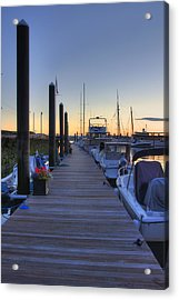Boston Dock Sunrise Acrylic Print by Joann Vitali