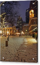 Boston Faneuil Hall And Quincy Market Acrylic Print by Juergen Roth