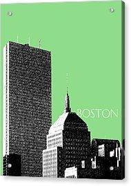 Boston Hancock Tower - Sage Acrylic Print by DB Artist