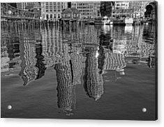 Boston Harbor Reflections Acrylic Print by Joann Vitali