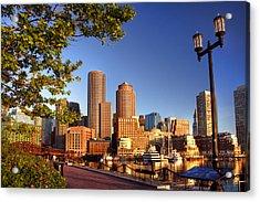 Boston Harbor Sunrise Acrylic Print by Joann Vitali