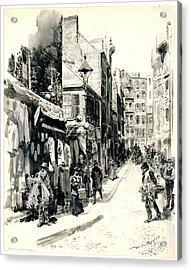 Boston Jewish Quarter 1899 Acrylic Print by Padre Art