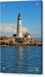 Boston Light Acrylic Print by Catherine Reusch  Daley