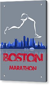 Boston Marathon3 Acrylic Print by Joe Hamilton