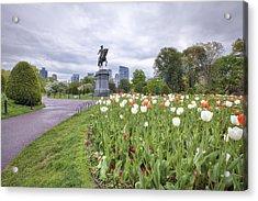 Boston Public Garden Acrylic Print by Eric Gendron