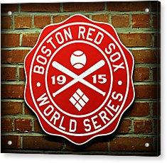Boston Red Sox 1915 World Champions Acrylic Print by Stephen Stookey