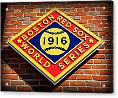 Boston Red Sox 1916 World Champions Acrylic Print by Stephen Stookey