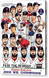 Boston Red Sox Ws Champions Acrylic Print by Dave Olsen
