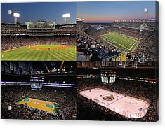 New England Acrylic Print featuring the photograph Boston Sport Teams And Fans by Juergen Roth