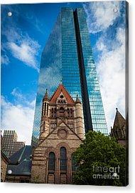 Boston Trinity Church Acrylic Print by Inge Johnsson