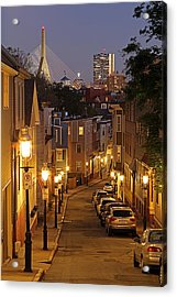 Boston View From Charlestown Acrylic Print by Juergen Roth