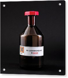Bottle Of 1 Acrylic Print by Science Photo Library