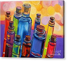 Bottled Rainbow Acrylic Print by Julie Brugh Riffey