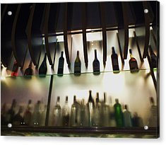 Bottles At The Bar Acrylic Print by Anna Villarreal Garbis
