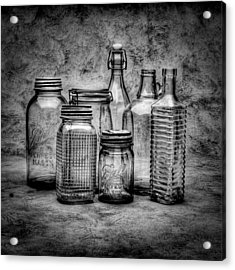 Bottles Acrylic Print by Timothy Bischoff