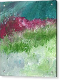 Bougainvillea- Contemporary Impressionist Painting Acrylic Print by Linda Woods