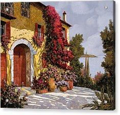 Bouganville Acrylic Print by Guido Borelli