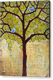 Boughs In Leaf Tree Acrylic Print by Blenda Studio