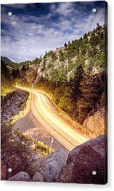 Boulder Canyon Beams Of Light Acrylic Print by James BO  Insogna
