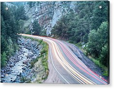 Boulder Canyon Drive And Commute Acrylic Print by James BO  Insogna