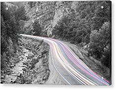 Boulder Canyon Drive And Selective Commute  Acrylic Print by James BO  Insogna