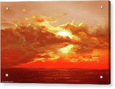 Bound Of Glory - Red Sunset  Acrylic Print by Gina De Gorna