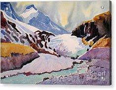 Boundary Glacier Banff And Jasper National Park Acrylic Print by Mohamed Hirji