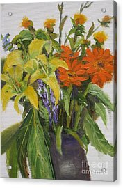 Bouquet Acrylic Print by Mohamed Hirji