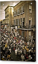 Bourbon Street Party Acrylic Print by Ray Devlin