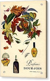 Bourjois 1940s Usa Womens Acrylic Print by The Advertising Archives