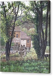 Bournemouth Throop Mill Through Trees Acrylic Print by Martin Davey