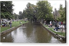Bourton On The Water Acrylic Print by John Williams