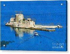 Bourtzi Fortress Acrylic Print by George Atsametakis