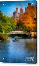 Bow Bridge Central Park Acrylic Print by Amy Cicconi
