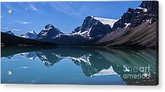 Bow Lake Reflecting Acrylic Print by Scotts Scapes