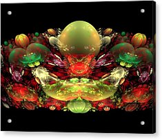 Bowl Of Fruit Acrylic Print by Bruce Nutting