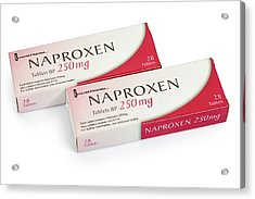 Box Of 250mg Tablets Of Naproxen Acrylic Print by Geoff Kidd